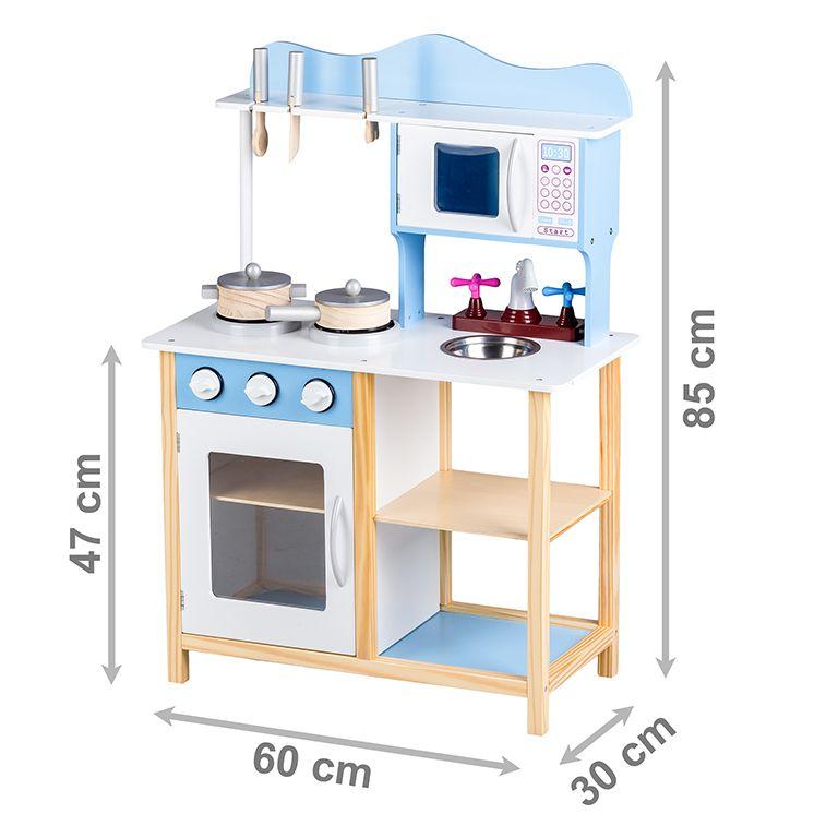 Drewniana Kuchnia Kuchenka Z Wyposażeniem Ecotoys
