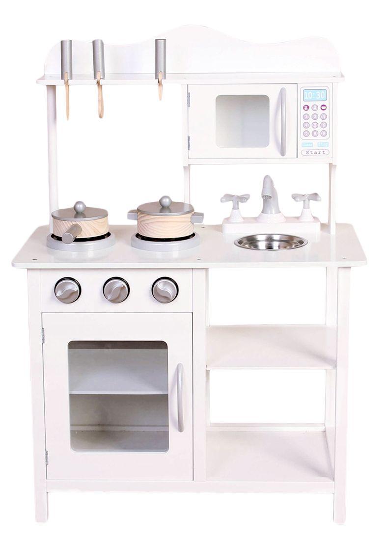 Drewniana Kuchnia Dla Dzieci Z Akcesoriami Ecotoys