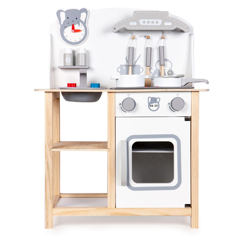 Drewniana Kuchnia Dla Dzieci Z Dzwiekami I Akcesoriami